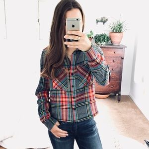 🆕 Listing! Topshot plaid crop flannel